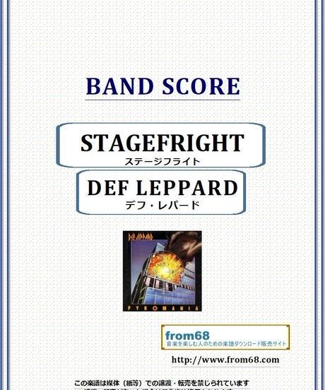 デフ・レパード(DEF LEPPARD)  / ステージフライト(STAGEFRIGHT) バンド・スコア(TAB譜)