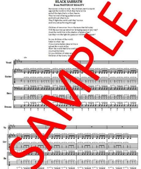 ブラック・サバス(BLACK SABBATH) / チルドレン・オブ・ザ・グレイヴ (CHILDREN OF THE GRAVE) バンド・スコア (TAB譜) 楽譜