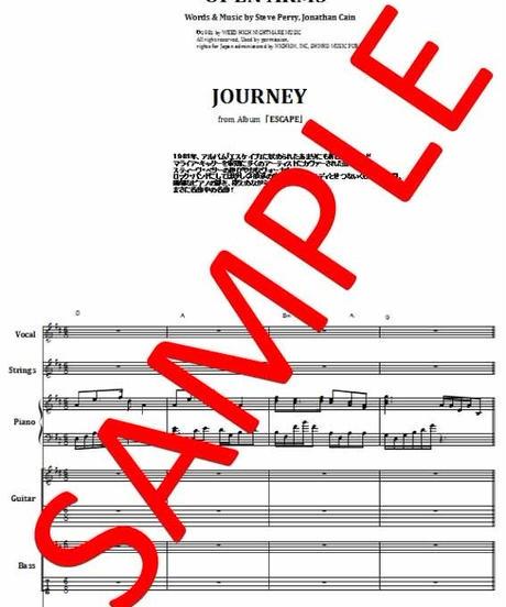 ジャーニー(JOURNEY) / 翼ひろげて(OPEN ARMS) バンド・スコア(TAB譜) 楽譜