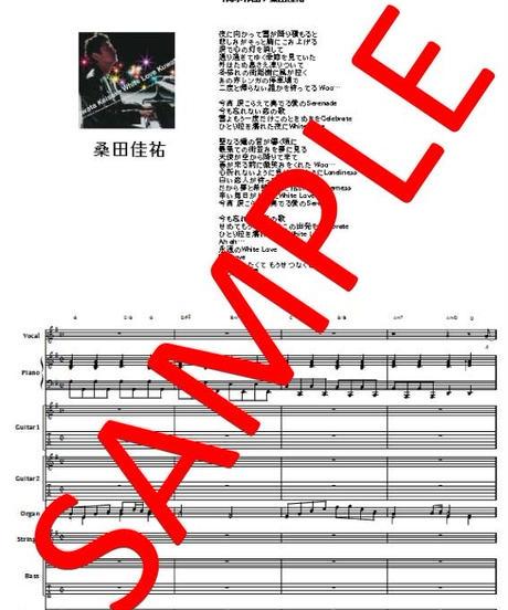 桑田佳祐 /  白い恋人達 バンド・スコア(TAB譜)  楽譜