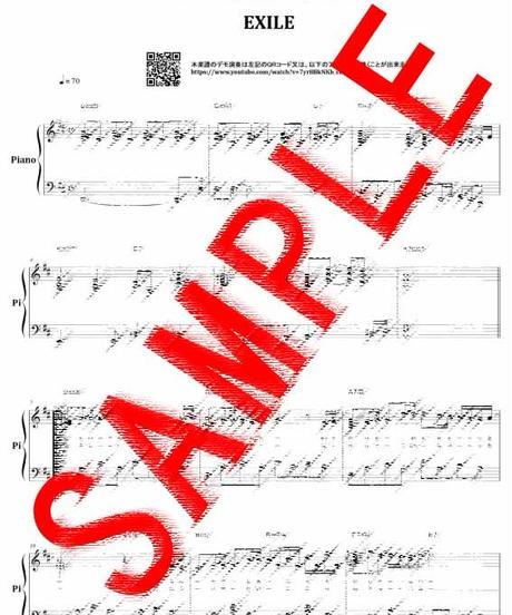 道 / EXILE ピアノ・ソロ スコア(Piano Solo) 楽譜 from68