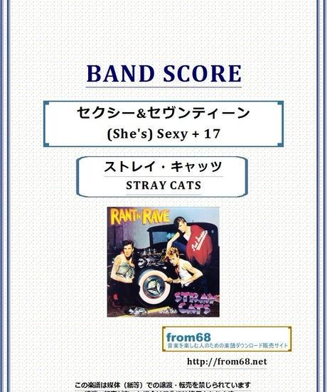 ストレイ・キャッツ(STRAY CATS) / セクシー&セヴンティーン (She's) Sexy + 17 バンド・スコア(TAB譜) 楽譜