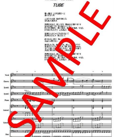 TUBE (チューブ)  / 夏だね  バンド・スコア(TAB譜) 楽譜