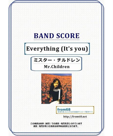 ミスター・チルドレン(Mr.Children)  / Everything (It's you) バンド・スコア(TAB譜)   楽譜