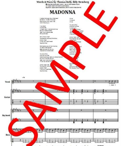 マドンナ(MADONNA)  / ライク・ア・バージン(LIKE A VIRGIN) バンド・スコア(TAB譜) 楽譜