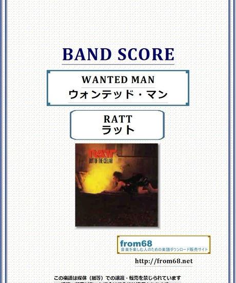 ラット(RATT) / WANTED MAN (ウォンテッド・マン)  バンド・スコア(TAB譜) 楽譜