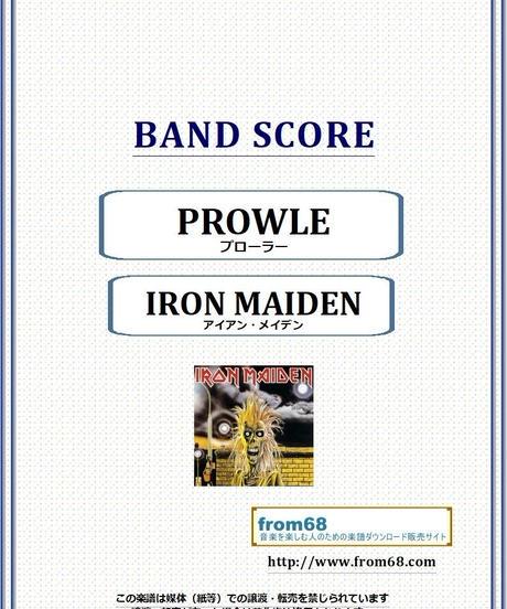 アイアン・メイデン (IRON MAIDEN) / PROWLER(プローラー) バンド・スコア(TAB譜) 楽譜