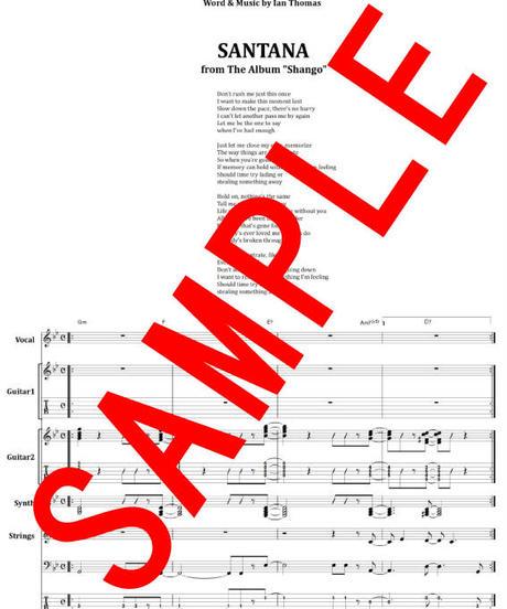 サンタナ(SANTANA) / HOLD ON バンド・スコア (TAB譜) 楽譜 from68