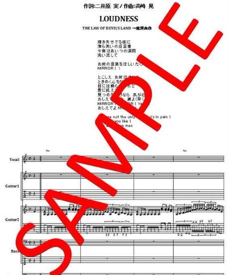 ラウドネス(LOUDNESS)  / IN THE MIRROR (イン・ザ・ミラー)  バンド・スコア(TAB譜) 楽譜