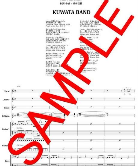 クワタバンド(KUWAT BAND) 桑田佳祐 /  スキップ・ビート(SKIPPED BEAT) バンド・スコア(TAB譜)  楽譜