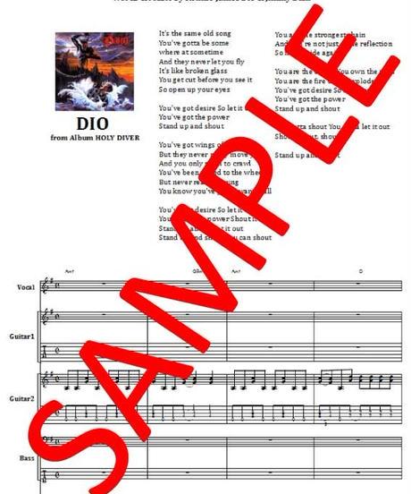 ディオ(DIO) / STAND UP AND SHOUT バンド・スコア (TAB譜)