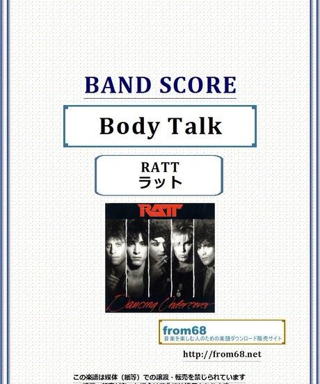 ラット(RATT) / Body Talk (ボディ・トーク)  バンド・スコア(TAB譜) 楽譜