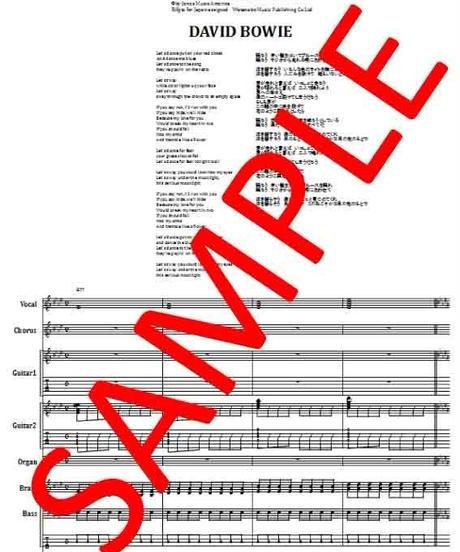 デヴィッド・ボウイ(DAVID BOWIE)  / レッツ・ダンス (LET'S DANCE) バンド・スコア(TAB譜) 楽譜