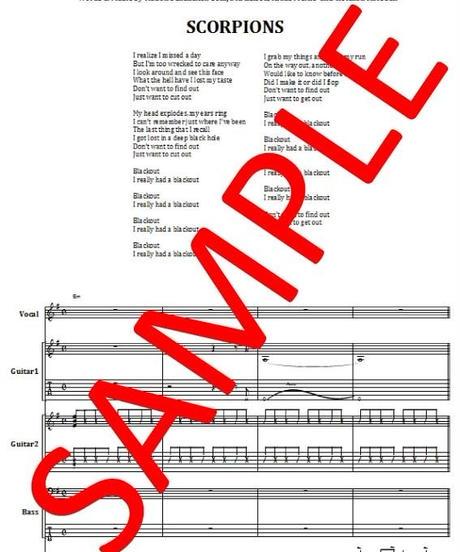 スコーピオンズ (SCORPIONS)  / BLACKOUT (ブラックアウト) バンド・スコア (TAB譜)  楽譜