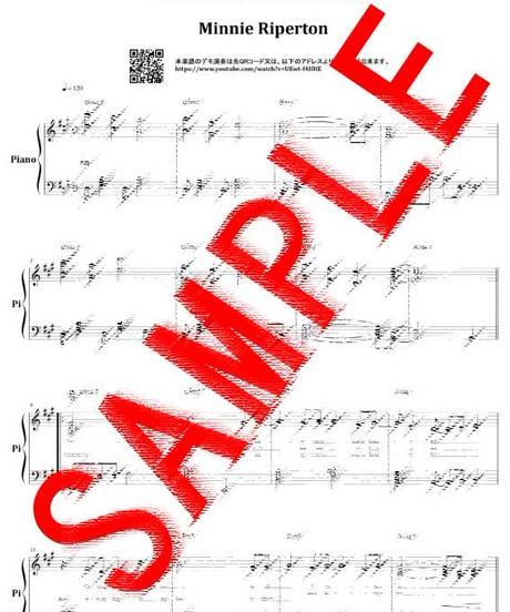 Lovin' you (ラヴィン・ユー) / ミニーリパートン(Minnie Riperton) ピアノ・ソロ スコア(Piano Solo) 楽譜 from68