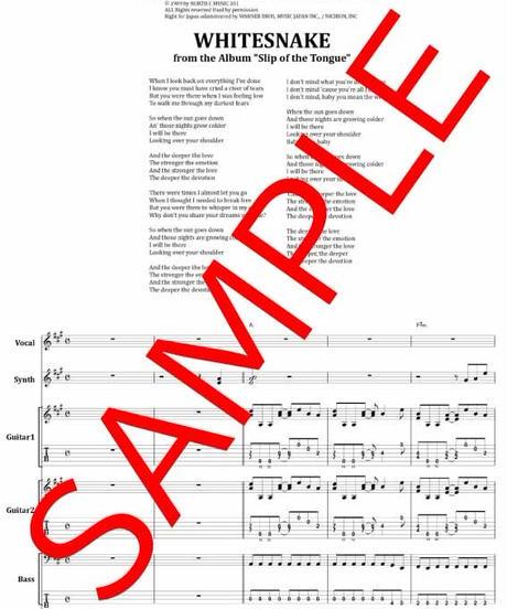 ホワイトスネイク(WHITESNAKE) / THE DEEPER THE LOVE バンド・スコア(TAB譜) 楽譜 from68