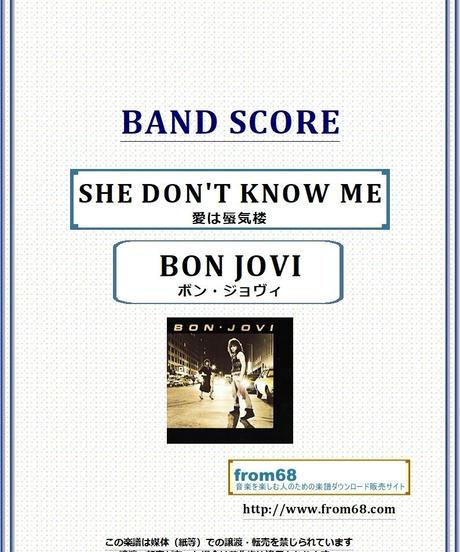 ボン・ジョヴィ (BON JOVI) / SHE DON'T KNOW ME (愛は蜃気楼) バンド・スコア(TAB譜) 楽譜