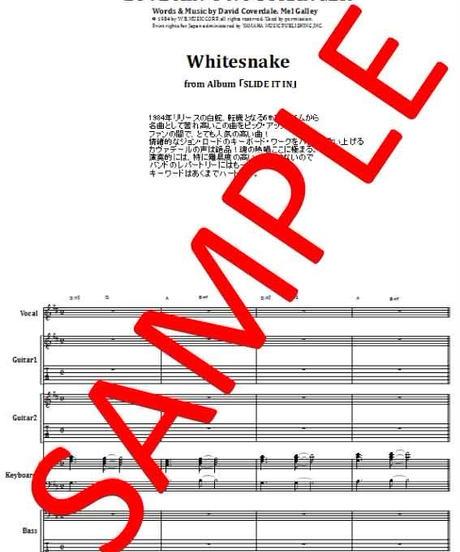 ホワイトスネイク(WHITESNAKE) / LOVE AIN'T NO STRANGER バンド・スコア(TAB譜) 楽譜