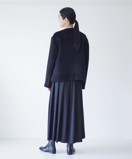 <fruits of life>ウールタックスカート / 墨色(ブラック)
