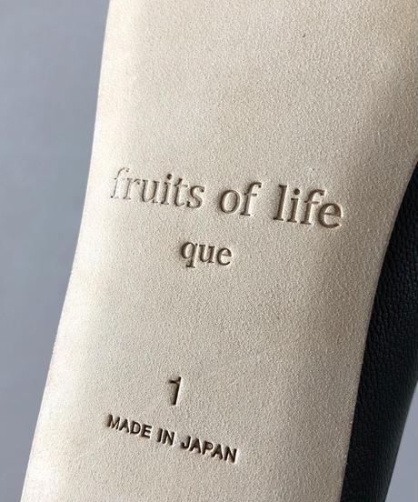<fruits of life × que> ルームシューズ (レディース) / ブラック