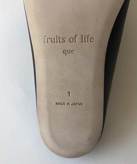 <fruits of life × que> ルームシューズ(メンズ) / ブラック