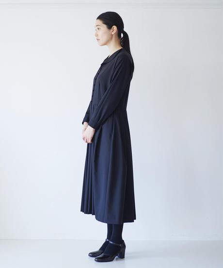 <fruits of life>ウールワンピース / 墨色(ブラック)