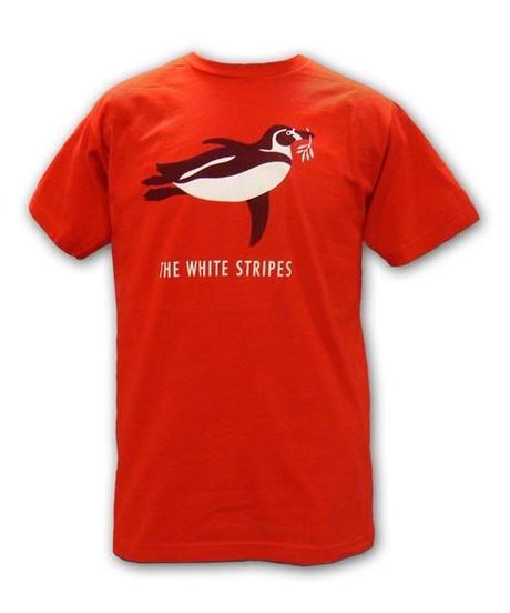 THE WHITE STRIPES : red penguin (ユニセックス バンドTシャツ)  【HV01-T05-01-S~XL】