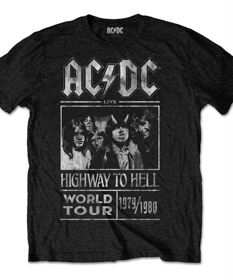AC/DC : highway to hell world tour 1979/1980 (for unisex t shirts) 【HV00-T06-03-M~L】