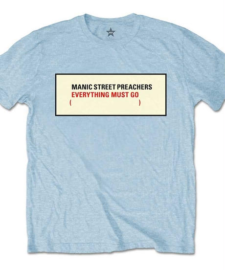 MANIC STREET PREACHERS : everything must go (ユニセックス バンドTシャツ) 【HV02-T07-01-S~XL】