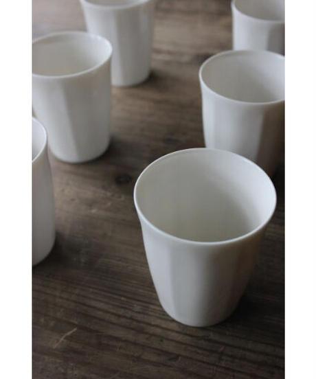 白磁 / フリーカップ  鎬八角 2個セット