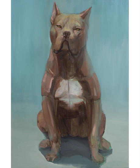 彫刻家・中里勇太キャンバス作品・犬