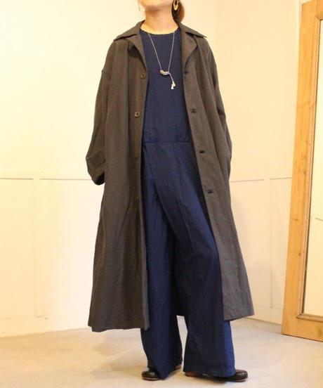 TS190SH067 アンティークスラブ ミリタリーロングシャツ  【size 1】