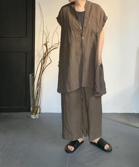 UT212SH005 トリプルワッシャーリネン スリーブレスシャツ
