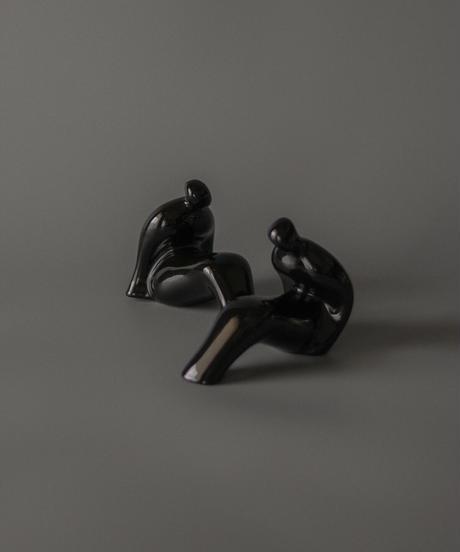 Black modern nude sculpture