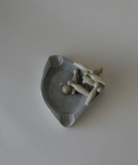 1950's Porcelain bowling ashtray
