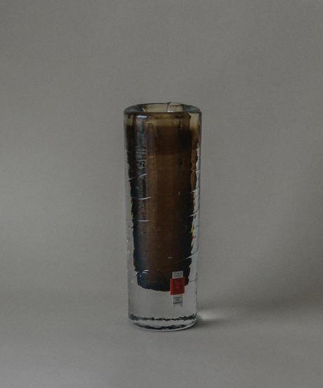 1970's vintage brown glass bud vase