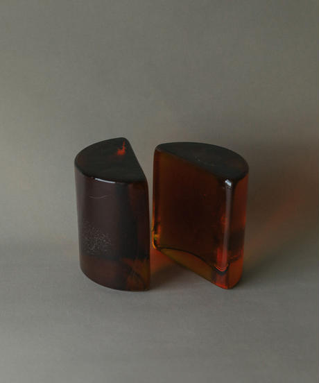 1953's Orange brawon glass object