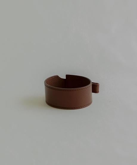 Hermès /  leather wine red bracelet