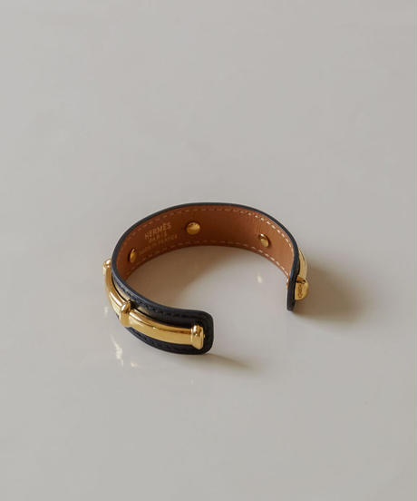 Hermès /  leather bamboo bangle