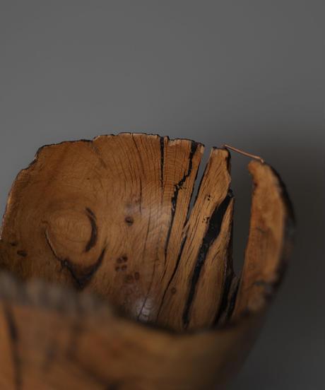 Wooden bowl sculpture