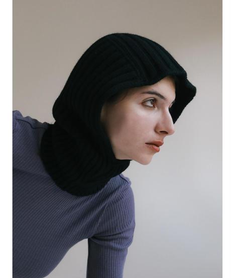 Black knit balaclava