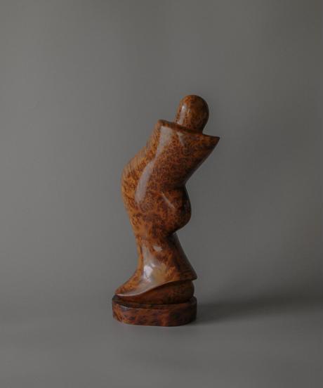modern wooden sculpture