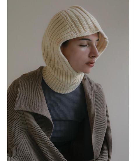 Cream knit balaclava