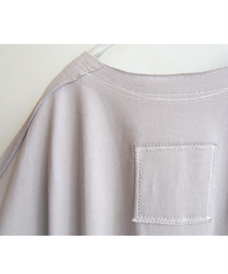 ヴィンテージコットンステッチ刺繡バックパッチワイドプルオーバー