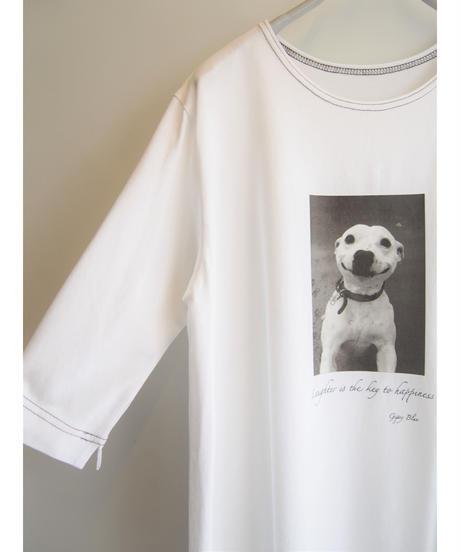 カラーステッチ【 SMILEY DOG 】プリントフレアーチュニック