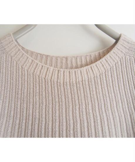 【日本製】針抜きリブ放射チュニック ( Whole Garment Knit )