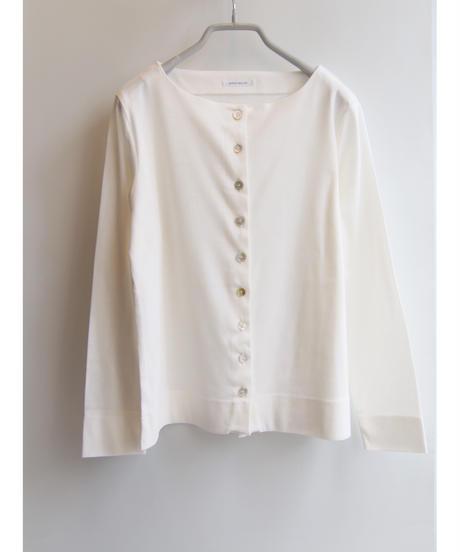 【日本製】コットン40双糸フライス多釦カーディガン