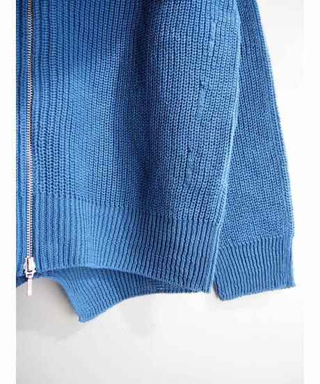 【日本製】綿100%畦編みラグランカーディガン ( Whole Garment Knit )