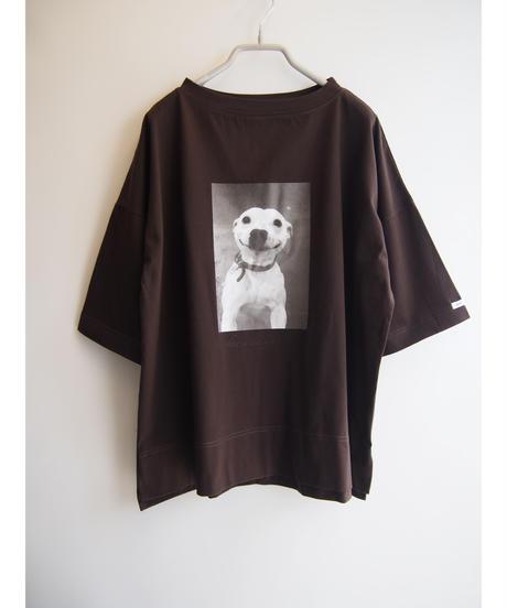 カラーステッチ【 SMILEY DOG 】プリントワイドプルオーバー