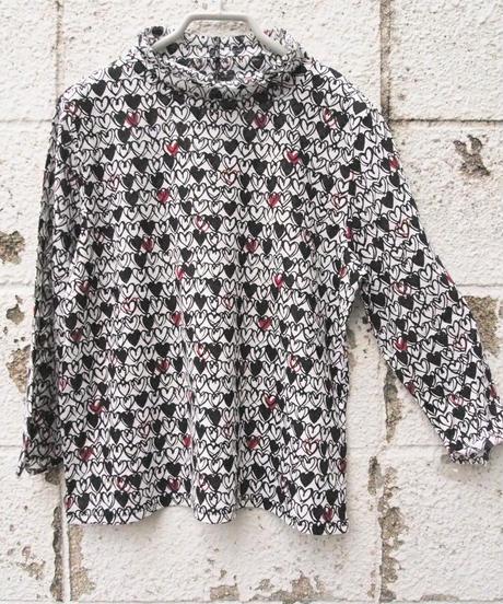【日本製】♡ハート♥PTカールハイネック7分袖Tシャツ